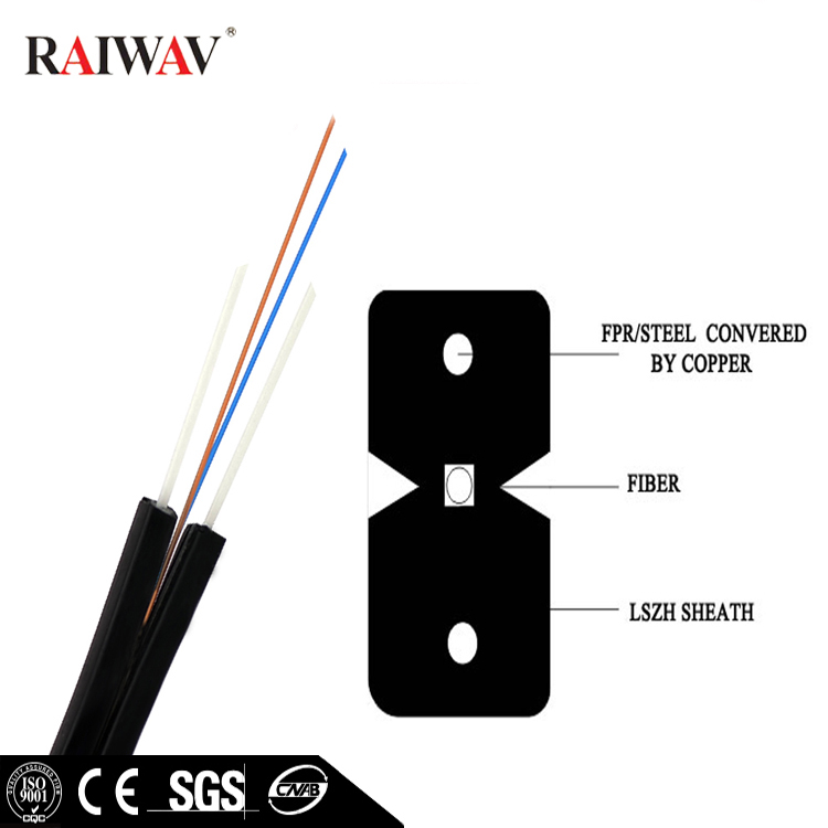 Fiber Optic 1/2/4 Core Drop Cable