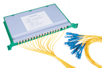 "19"" Splice Tray Type Fiber Optic PLC Splitter"